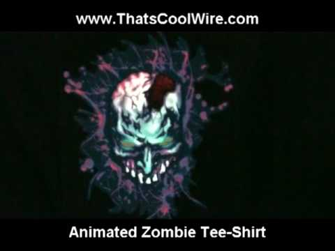 Animated Zombie Lighted Tee-Shirt