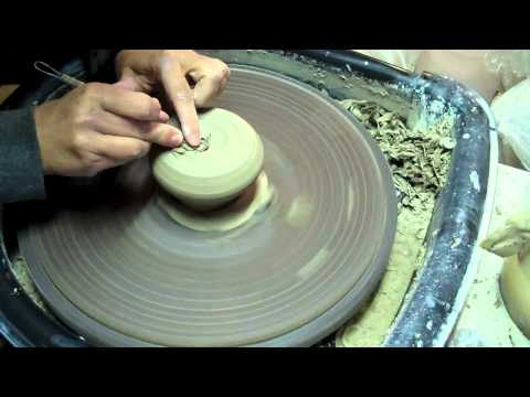 Cup 80 - Making a Double Walled Pottery Cup - Trimming - Carving - Adding Handle