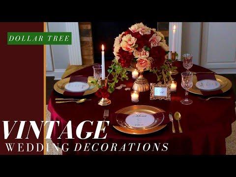 DIY VINTAGE WEDDING CENTERPIECE | FALL WEDDING DECORATIONS | DOLLAR TREE WEDDING DECORATIONS