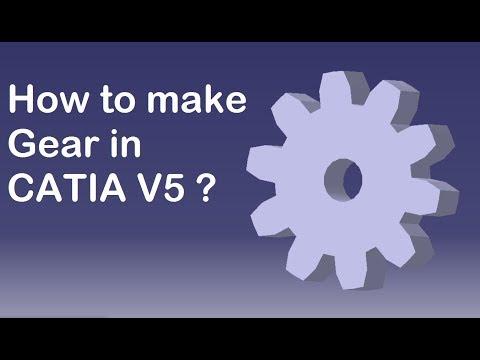 CATIA V5 | Tutorial | How to make a Gear ?
