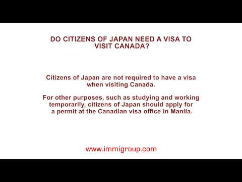 Do citizens of Japan need a visa to visit Canada?