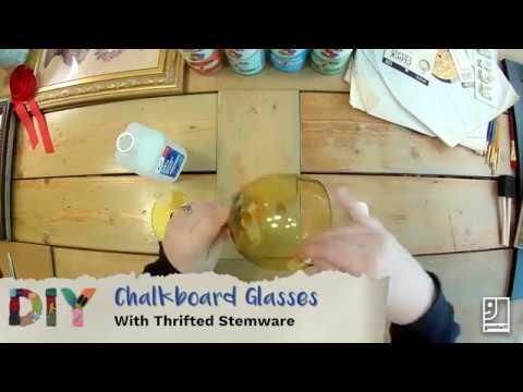 DIY Chalkboard Glasses