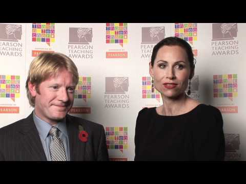 2011 Pearson Teaching Awards UK Ceremony - Minnie Driver and Simon Roberts