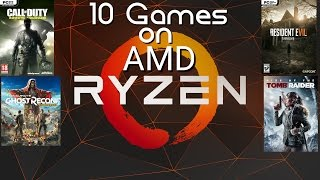 Amd Rysen 1700X tested in 10 games