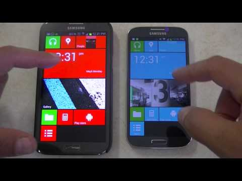 Samsung Galaxy S4 & Note 2 Windows 8 Look
