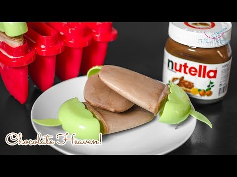 How To Make | Nutella Ice Lollies / Popsicle / Kulfi - 2 Ingredients Easy Recipe By Hiba's Kitchen
