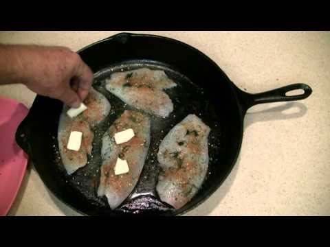 Baking Fish In An Iron Skillet On Grill