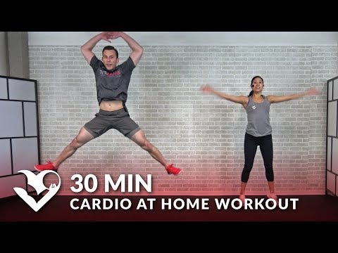 30 Minute Cardio at Home Workout without Equipment - 30 Min HIIT Bodyweight Cardio No Equipment