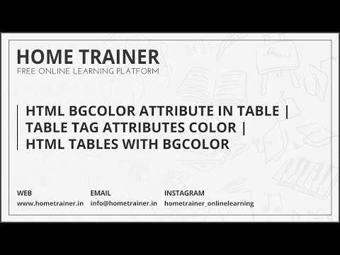 HTML Bgcolor Attribute in Table | Table Tag Attributes Color | HTML Tables With Bgcolor