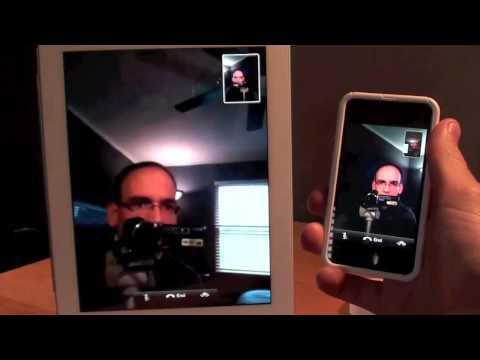 Apple iPad 2 FaceTime  Setup and Demo