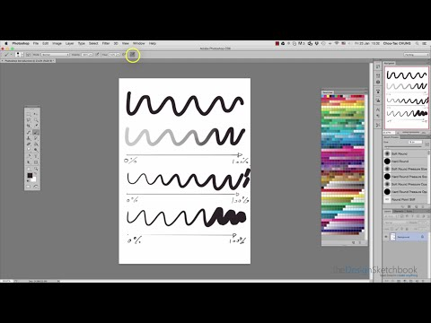Interface introduction + How to activate Photoshop pen pressure: Opacity and size variation