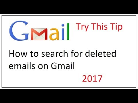 how to search for deleted emails on gmail