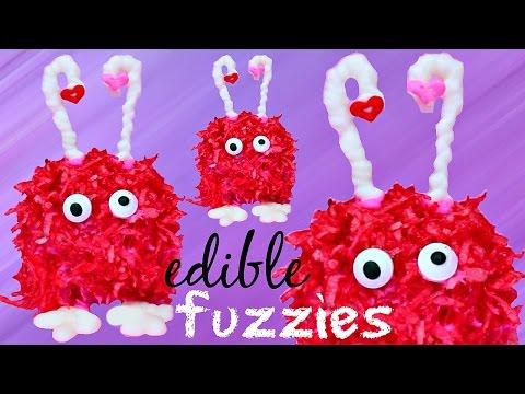 DIY Valentine's Day Fuzzies! How to Make V-DAY Edible Fuzzy Wuzzy Treats!