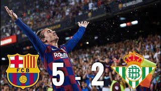 Barcelona vs Real Betis [5-2], La Liga 2019/20 - MATCH REVIEW