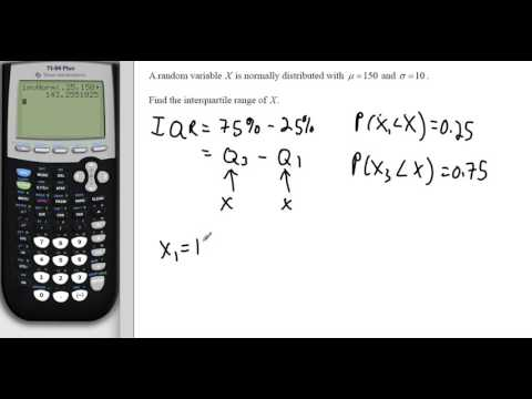 Normal Distribution and IQR with GDC