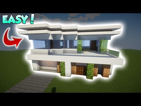 Minecraft: Modern House Tutorial  [Hollywood House] - How to build a Modern House in Minecraft