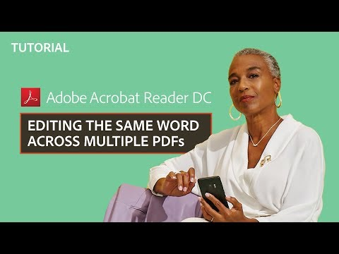 How to edit the same word across multiple PDF files