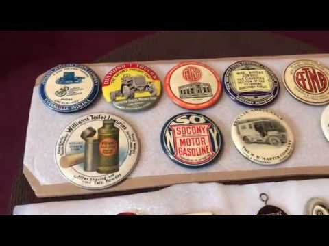 Vintage Compact Mirror Advertising Buttons SOLD