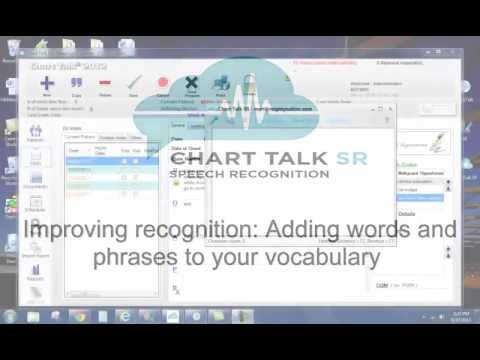 Chart Talk Speech Recognition - Customizing your vocabulary