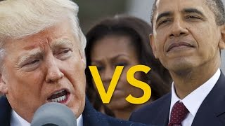 Donald Trump Inagauration 2017  VS Barack Obama Inauguration 2009