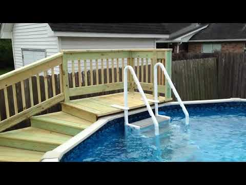 Swimming Pool Deck I built in my backyard!