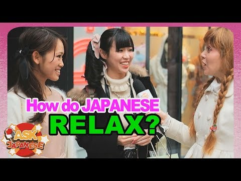 De-stress tips of Japanese girls and boys |How to relax in Japan