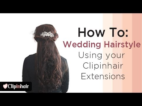 Wedding hairstyle using clip in hair extensions by Clipinhair.