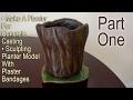 Part One - Make A Planter For Concrete Casting - Sculpting Planter Model With Plaster Bandages