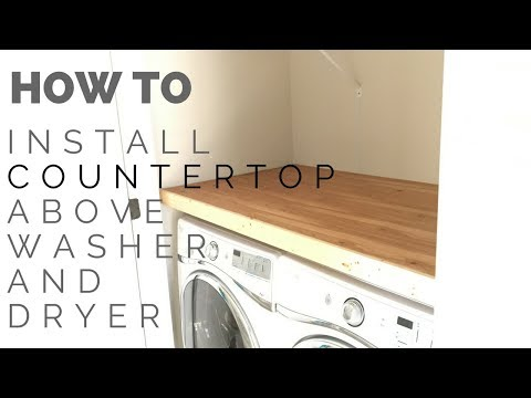 How to Install Laundry Closet Countertop