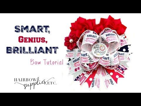Smart, Genius, Brilliant Back to School Bow Tutorial - Hairbow Supplies, Etc.