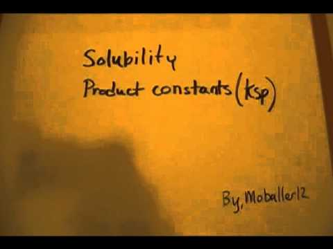 Solubility Product Constant (Ksp) part 1/5