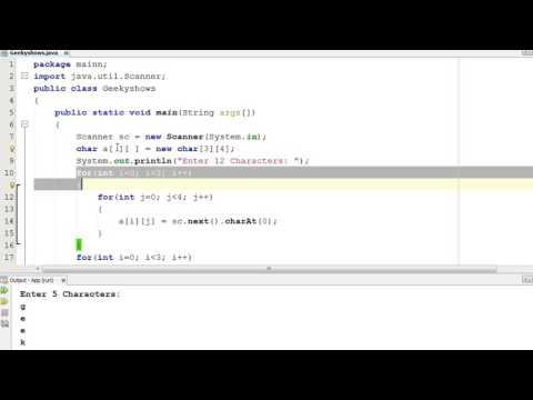 224. Getting input from user in char array Java Programming (Hindi)