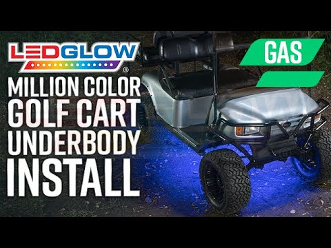 LEDGlow | How To Install LED Underbody Lights On A Gas Golf Cart