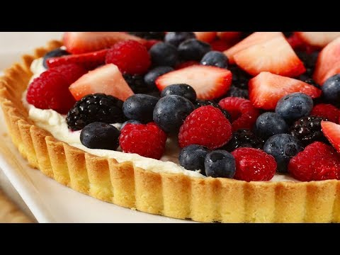 Easy Fruit Tart Recipe Demonstration - Joyofbaking.com