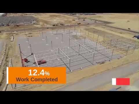 Progress of Kia Motors Manufacturing plant construction