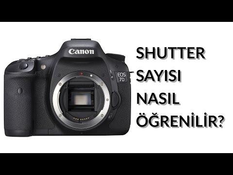 Canon shutter sayısı öğrenme