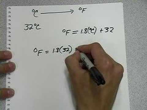 Celsius To Fahrenheit Conversion