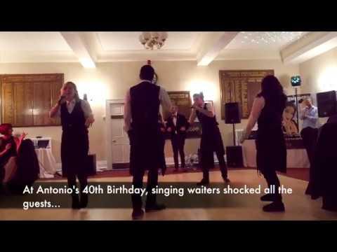 Marry You Singing Waiter Proposal!