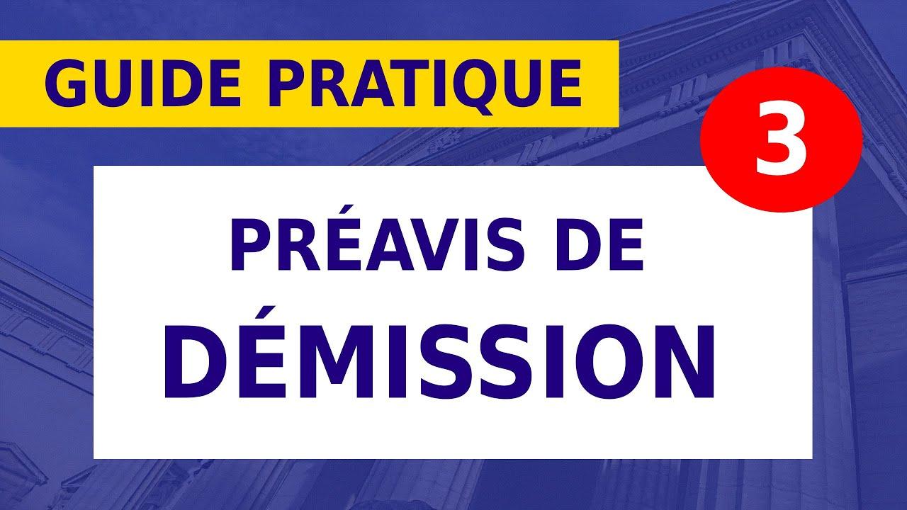 DÉMISSION: LE DÉLAI DE PRÉAVIS __#11ter