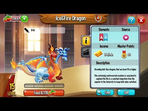 Dragon City Breeding Tutorial | How To Breed ICE&FIRE DRAGON | Exclusive Dragon Breeding