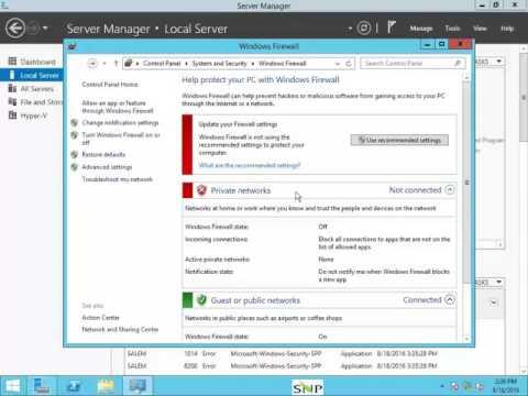 Firewall setting Server 2012 r2