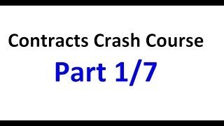 Download Contracts - Exam Crash Course Part 1/7 Video