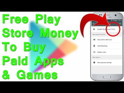 Get free Play Store Balance Credit to Buy Paid apps and games for free