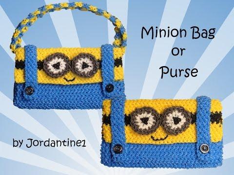 New Minion Bag / Purse / Pencil Case  - Loomigurumi / Amigurumi - Rainbow Loom - Hook Only - Crochet