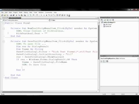 Wordpad using RichTextBox Visual Basic .NET 1/3
