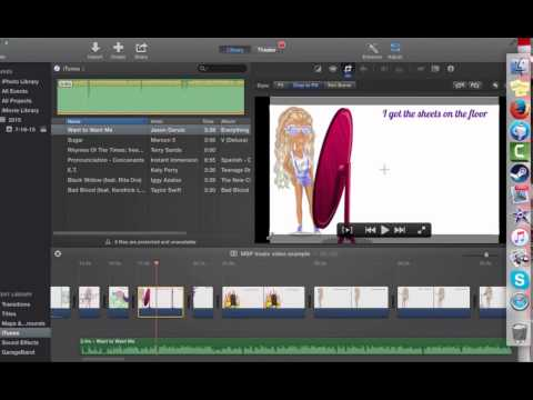 How to make an MSP music video (mac only)