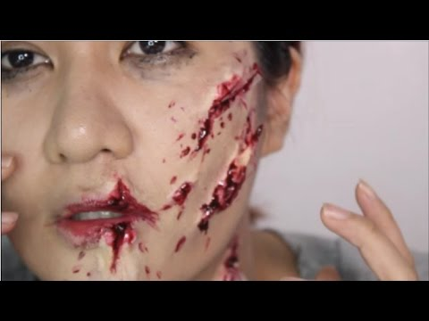 Shattered Glass Makeup Using Glue Stick