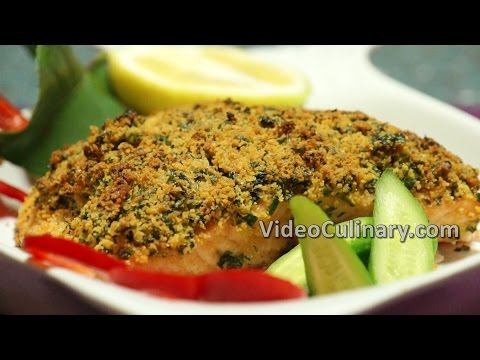 Herb Crusted Baked Salmon Recipe - Video Culinary