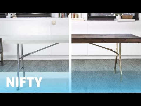 Folding Table Makeover