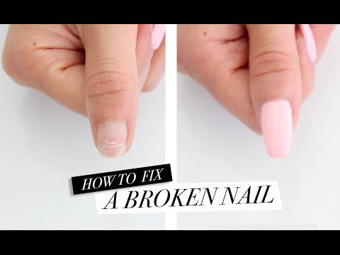 How To Fix A Broken Nail! DIY Acrylic Nails at Home